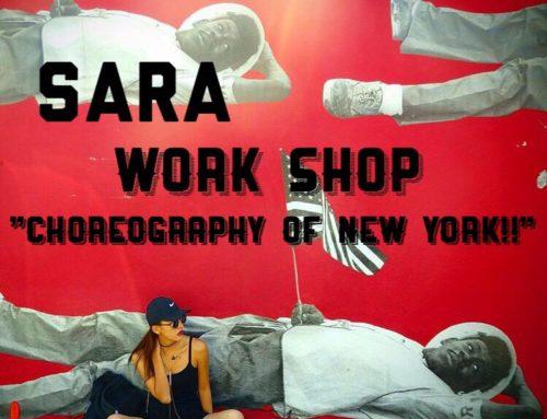 NYの振り付けをSARAから習おう!!ワークショップ